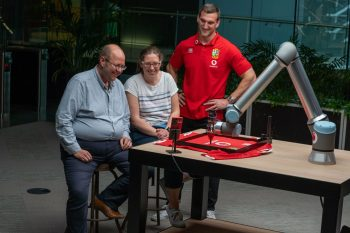 5G robot enables Lions stars to sign shirts from 8,000 miles away